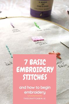 In this video we will be covering 7 basic embroidery stitches (and a bonus one) all the tools, tips and tricks you will need to start embroidering yourself.
