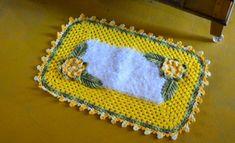 Tapete Max Amarelo e Branco – Barbante Barroco Decore