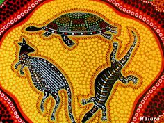 Australian aboriginal art: Australian aboriginal art has been around for many years. Aboriginal rock paintings are a fun way and tell the stories of the Autralian continent Aboriginal Art Australian, Aboriginal Art Animals, Aboriginal Dot Painting, Indigenous Australian Art, Aboriginal Artists, Indigenous Art, Australian Animals, Aboriginal Art For Kids, Aboriginal People
