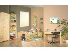 Dětský pokoj Alpik P2 Dětský pokoj Alpik české výroby. Nábytek je vyroben z kombinace spárovkové desky a ekodřevotřískové desky. Základním materiálem nábytku je spárovková deska, tzn. konstrukční deska slepená ze smrkového masivního dřeva. Spárovkové desky … Toddler Bed, Furniture, Home Decor, Child Bed, Decoration Home, Room Decor, Home Furnishings, Arredamento, Interior Decorating