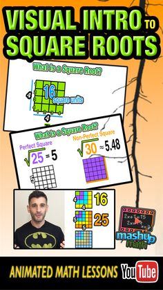 Do you understand the concept of a perfect square and a square root? On this animated common core algebra lesson, we explore these concepts visually and in-depth. This lesson is aligned with the common core standards for Algebra and was designed with flipped classroom teachers and visual learners in mind! Check out our ever-growing library of lessons and subscribe to our YouTube channel!