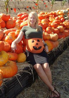 19 painted pumpkin bellies ready for halloween. Black Bedroom Furniture Sets. Home Design Ideas