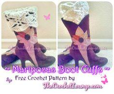 Nashville Boot Cuffs | AllFreeCrochet.com