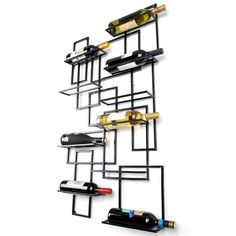 New Wall Mount Wine Racks Metal Bottle Holder Storage Home Bar Display Tools in Home & Garden, Kitchen, Dining & Bar, Bar Tools & Accessories