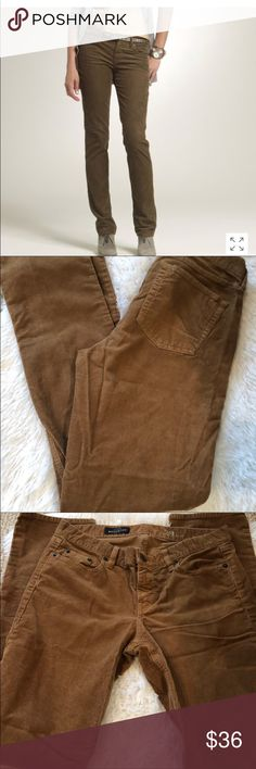J. Crew Tall Matchstick brown corduroy pants 29. J. Crew Tall Matchstick brown corduroy pants size 29. Sits on hips. Slim through hip and thigh, with a slim, straight leg. PRODUCT DETAILS Our slim-but-not-too-skinny matchstick in soft corduroy because you can't always wear jeans.  Cotton with a hint of stretch. Traditional 5-pocket styling. Machine wash. J. Crew Pants