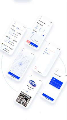 An interesting mobile app design case study by Yaroslav Lozovoi, a UI/UX designer based in Odessa, Ukraine. He shared on Behance about a concept of a NYC Taxi App, we are commonly used to the Uber experience but how about for cab drivers? Clean Web Design, App Ui Design, Mobile App Design, Interface Design, User Interface, Flat Design, Site Design, Design Design, Graphic Design