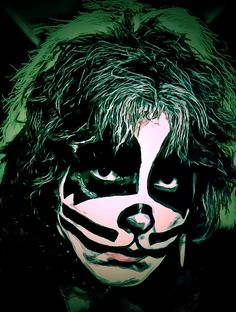 Peter Criss by Fred Larucci Night Gallery, Peter Criss, Facebook Art, Notebooks For Sale, Kiss Band, Thing 1, All Poster, Posters, Art Pages
