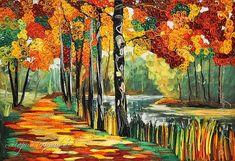 quilling, Квиллинг, полоски бумаги, Осенний лес, по картине Леонида Афремова, панно