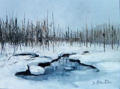 Love this oil painting from UGallery. Winter Wonderland by Gary Bruton