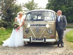 Congratulations to Sarah and Lee, married and celebrating at High House Farm Brewery, Matfen, Northumberland. www.vwdeluxeweddings.co.uk Chauffeur driven VW Campervan wedding hire in Northumberland, Tyne and Wear, and Durham