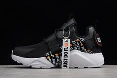 "df8269aee1d4a Nike Air Huarache City Low PRM ""Just Do It"" Black White-Total"