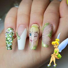 Disney Nail Designs, Nail Art Designs Videos, Bling Nails, Swag Nails, My Nails, Disney Acrylic Nails, Best Acrylic Nails, Cute Nails, Pretty Nails