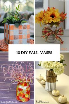 10 DIY Fall-Inspired Vases From Various Materials | Shelterness