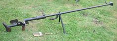 PTRD-41 anti tank rifles comp. Soviet antitank rifle. IN the 1940 the Soviet army was without an antitank rile, at a time when practicality every other nation w