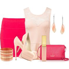 """""""Crazy for Pink"""" by casuality on Polyvore"""