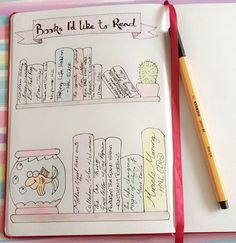 My New Years resolution was to read 1 book a month. Love using this spread in my #Bulletjounal to keep track of #BooksIdLikeToRead See this Instagram photo by @kerryvonbujo bullet journal