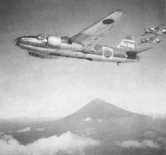 The Japanese Mitsubishi was a twin-engine bomber in World War II. Navy Aircraft, Ww2 Aircraft, Military Aircraft, Imperial Japanese Navy, Samurai, Military Weapons, Luftwaffe, World War Two, Fighter Jets