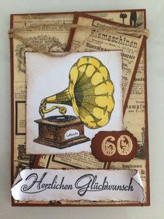 Vintage Karte zum 60. Geburtstag