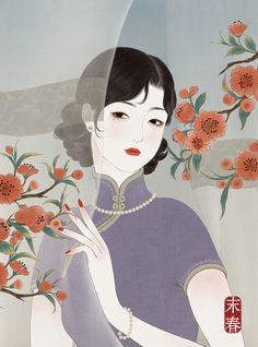 art for art's sake — by 末春 Japanese Art Modern, Japanese Artists, Japanese Illustration, Illustration Art, Geisha Art, Japan Painting, Beautiful Fantasy Art, Post Impressionism, China Art