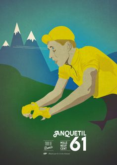 © Cycles Fumant #cyclesfumant, #poster, #bicycle, #graphicdesign, #cycling, #tourdefrance,