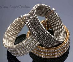 Herringbone Bangle ! i love herringbone stitch...gotta try this one!