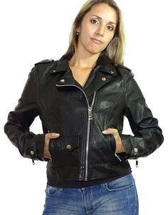 Campera Negra Cuero (Ana Reina)   $849.00 Leather Jacket, Jackets, Fashion, Wraps, Black, Studded Leather Jacket, Down Jackets, Moda, Leather Jackets