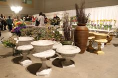 Flower Show, Planters, Table Settings, Chicago, Table Decorations, Navy, Garden, Flowers, Furniture
