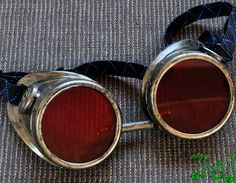 """Possible steam punk goggles for the card guards when they """"paint the roses red""""."""
