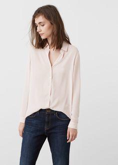 Струящаяся рубашка | MANGO МАНГО