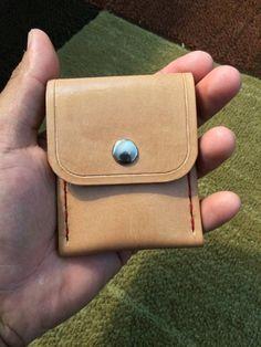 Single Fold Minimalist Wallet by RedFeatherLeather on Etsy