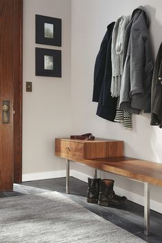 Morris Bench With Drawer Modern Storage Benchentryway