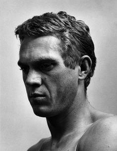 * Steve McQueen portrait © Roy Schatt, courtesy Galerie de l'Instant
