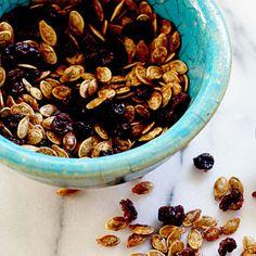 Roasted Pumpkin Seeds with Raisins & Chipotle - Ayurvedic Diet & Recipes