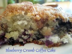 Blueberry Crumb Coffee Cake from MOORE OR LESS COOKING