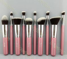 Jessup Pink 10pc brush set - honestly I only need the flat top angled kabuki (F88?), P80 dupe and that pencil tip brush. I'm not that cheapskate but I don't have much room for brushes