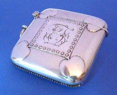 Arts & Craft Antique Silver Vesta Case- Daniel Bexfield Antiques.