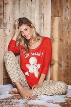 Buy Red Gingerbread Man Pyjamas from the Next UK online shop Pajamas For Teens, Cute Pajamas, Pajamas Women, Comfy Pajamas, Satin Pyjama Set, Pajama Set, Christmas Pajamas, Christmas Shirts, Womens Fashion Online
