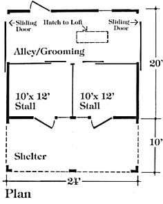 1000 images about horse barn on pinterest horse barn for 2 stall horse barn plans