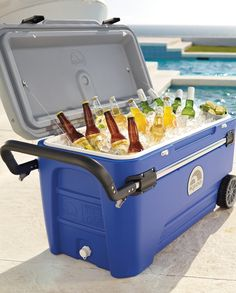 Cooler - Dad : ))))Perfect for fishing, boating, tailgating, and camping, this innovative rolling cooler keeps perishables chilled for five days in 90°F weather.