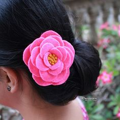 Felt hairpin.... simple is beautiful