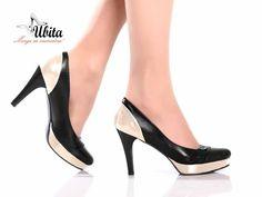 Pantofi pe comanda dama din piele naturala cu toc inalt Ubita.ro