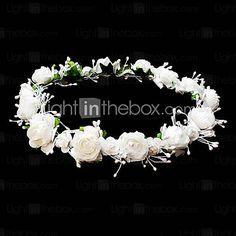 linda flor do casamento coroa menina de flor - BRL R$ 7,10