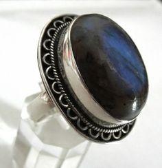 Ring Gr. 60 Silber 925 mit Labradorit | karat24.de
