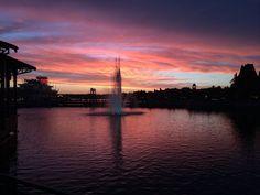 Amazing Downtown Disney sunset