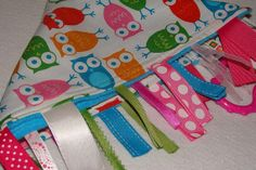 Tag Rag for your Playful Peanut Owls on White by playfulpeanut, $20.00