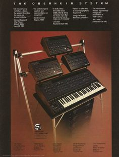 The Oberheim System Recording Equipment, Dj Equipment, Vintage Synth, Vintage Keys, Music Sequencer, Synthesizer Music, My Own Private Idaho, Instruments, Old School Music