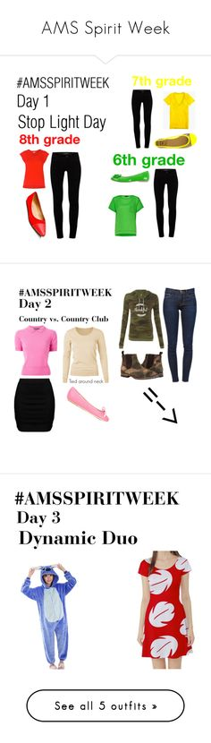 """AMS Spirit Week"" by animalplanetfreak ❤ liked on Polyvore featuring Whistles, J Brand, Alexis Harrison, J.Crew, Penny Loves Kenny, French Connection, PrimaDonna, AMSSPIRITWEEK, Zizzi and Polo Ralph Lauren"