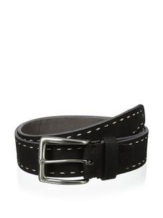 63% OFF Bolliver Men's Border Stitch Belt (Black/Grey)