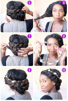 Image result for chignon bas cheveux afro