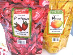 Trader Joe's Freeze Dried Fruit is INCREDIBLE.  The mango slices taste like mango ice cream. Accept no substitutions.
